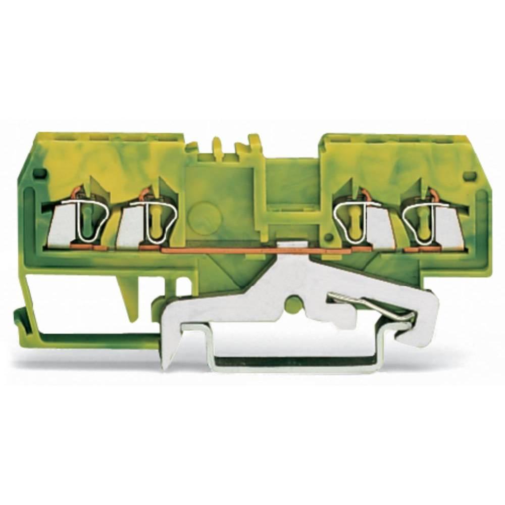 Jordklemme 4 mm Trækfjeder Belægning: Terre Grøn-gul WAGO 279-837/999-950 100 stk