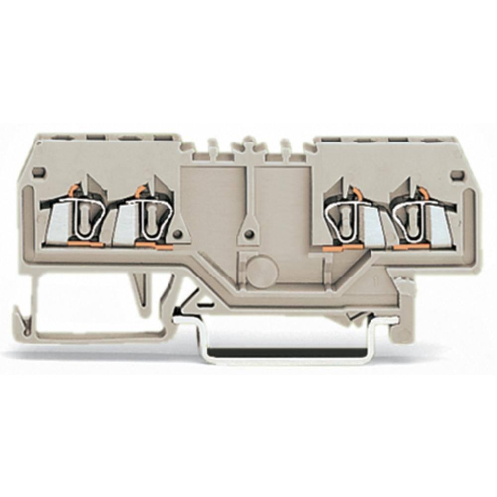 Gennemgangsklemme 4 mm Trækfjeder Belægning: L Grå WAGO 279-995 100 stk