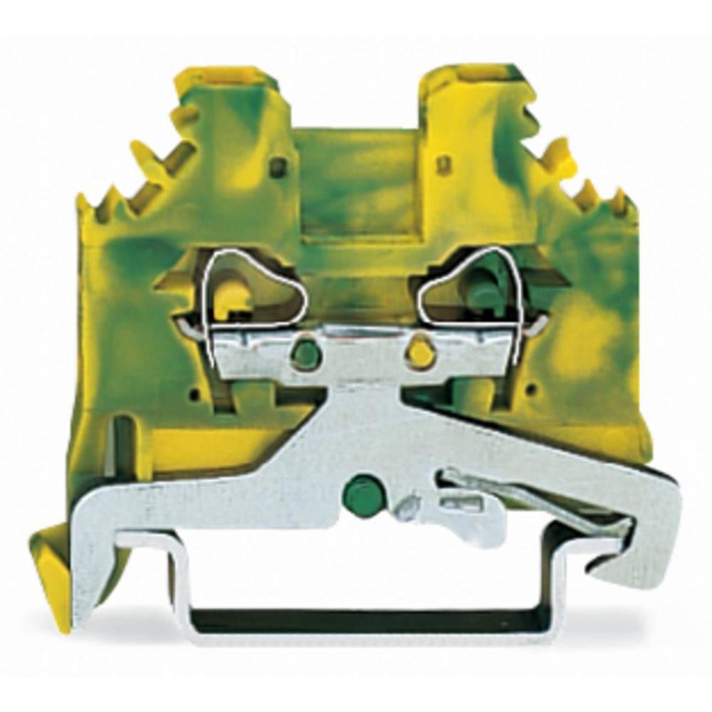 Jordklemme 5 mm Trækfjeder Belægning: Terre Grøn-gul WAGO 280-107 100 stk