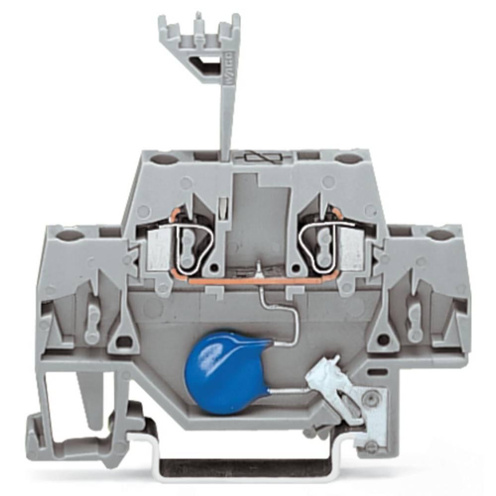 Enkelt klemme 5 mm Trækfjeder Belægning: L Grå WAGO 280-502/281-613 50 stk
