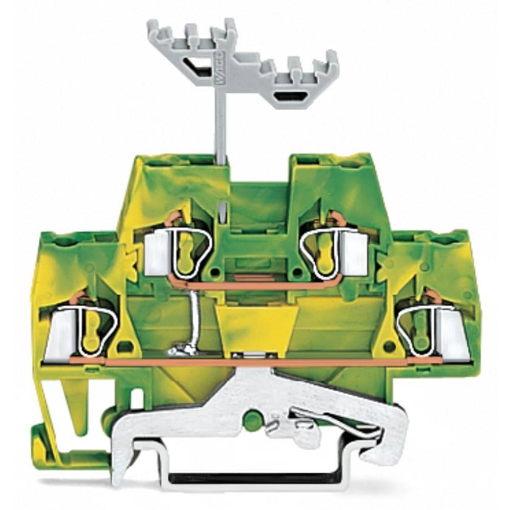 Dobbeltlags-beskyttelseslederklemme 5 mm Trækfjeder Belægning: Terre Grøn-gul WAGO 280-517 50 stk