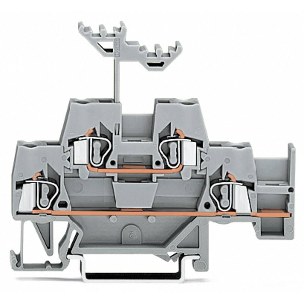 Dobbeltlags-gennemgangsklemme 5 mm Trækfjeder Belægning: L Grå WAGO 280-541 50 stk