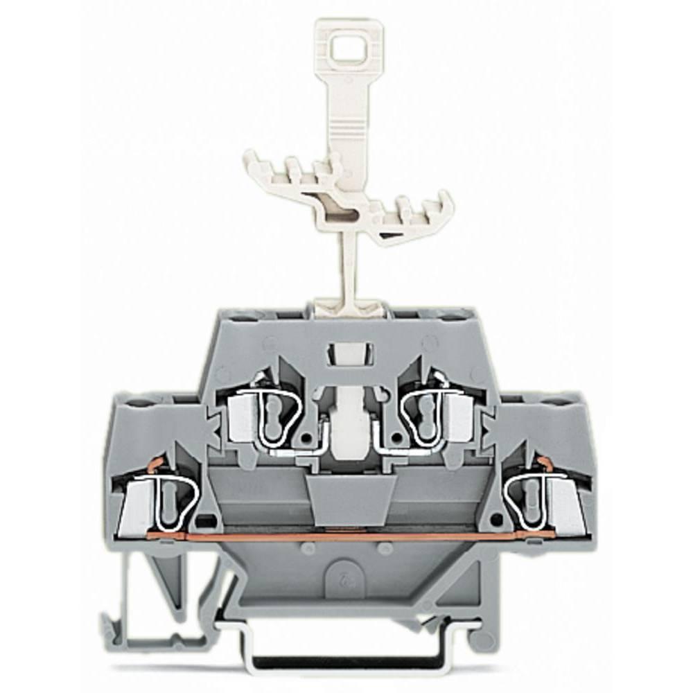 Dobbeltlags-gennemgangsklemme 5 mm Trækfjeder Belægning: L Grå WAGO 280-521 50 stk
