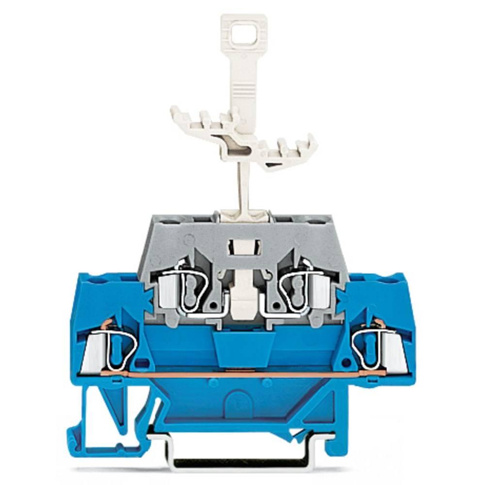 Dobbeltlags-gennemgangsklemme 5 mm Trækfjeder Blå , Grå WAGO 280-525 50 stk