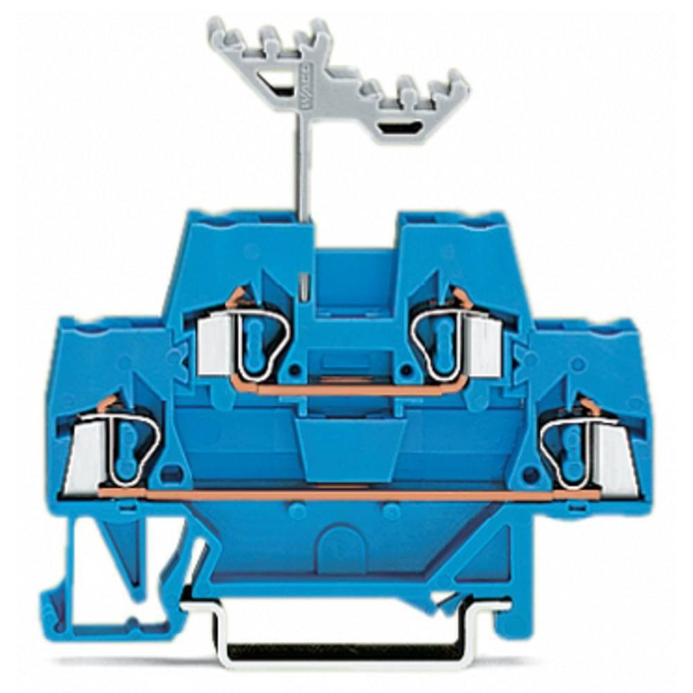 Dobbeltlags-gennemgangsklemme 5 mm Trækfjeder Belægning: N Blå WAGO 280-529 50 stk