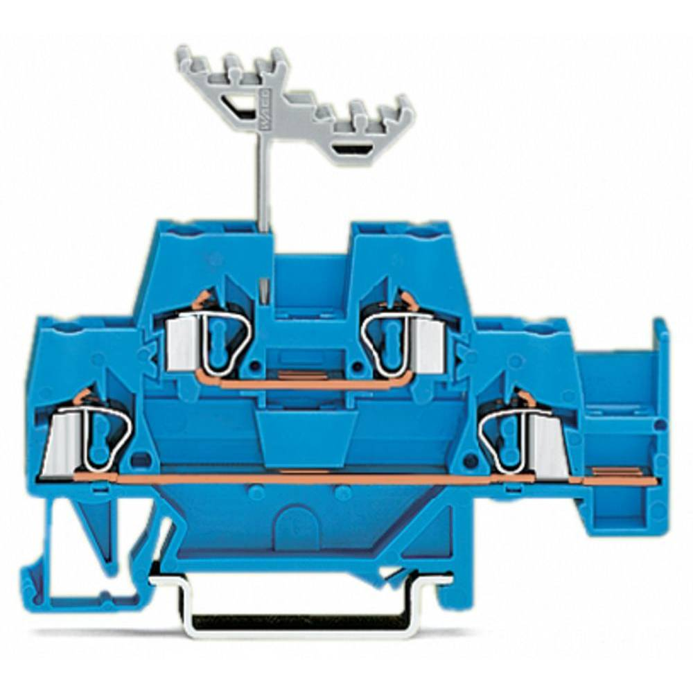 Dobbeltlags-gennemgangsklemme 5 mm Trækfjeder Belægning: N Blå WAGO 280-530 50 stk