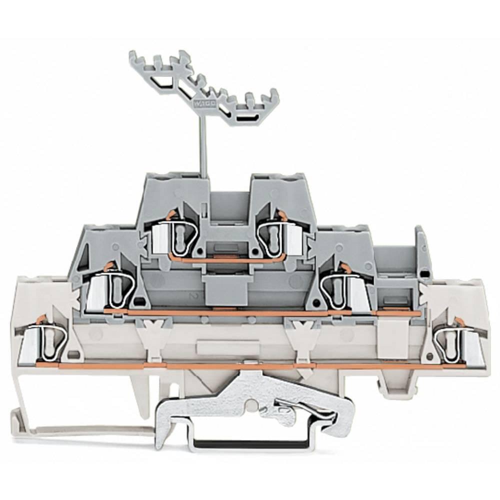 Trippel-gennemgangsklemme 5 mm Trækfjeder Hvid, Grå WAGO 280-548 40 stk
