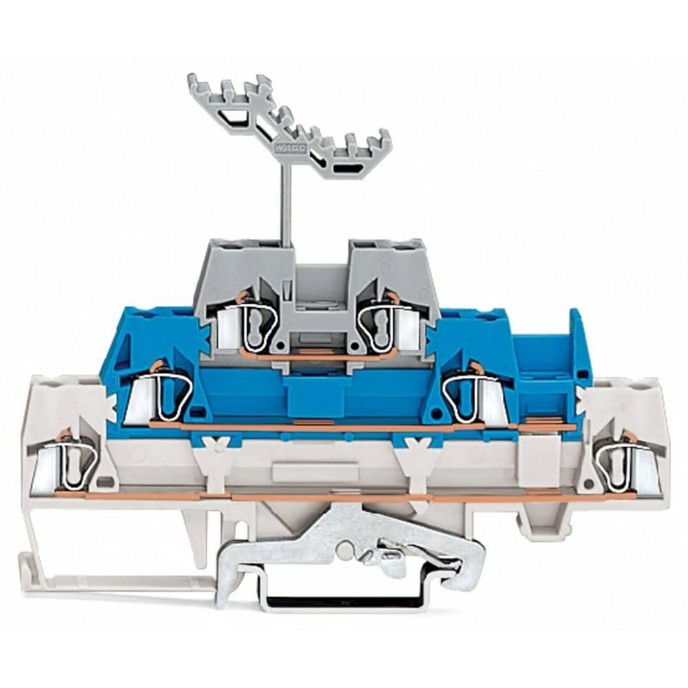 Trippel-gennemgangsklemme 5 mm Trækfjeder Hvid, Blå , Grå WAGO 280-558 40 stk