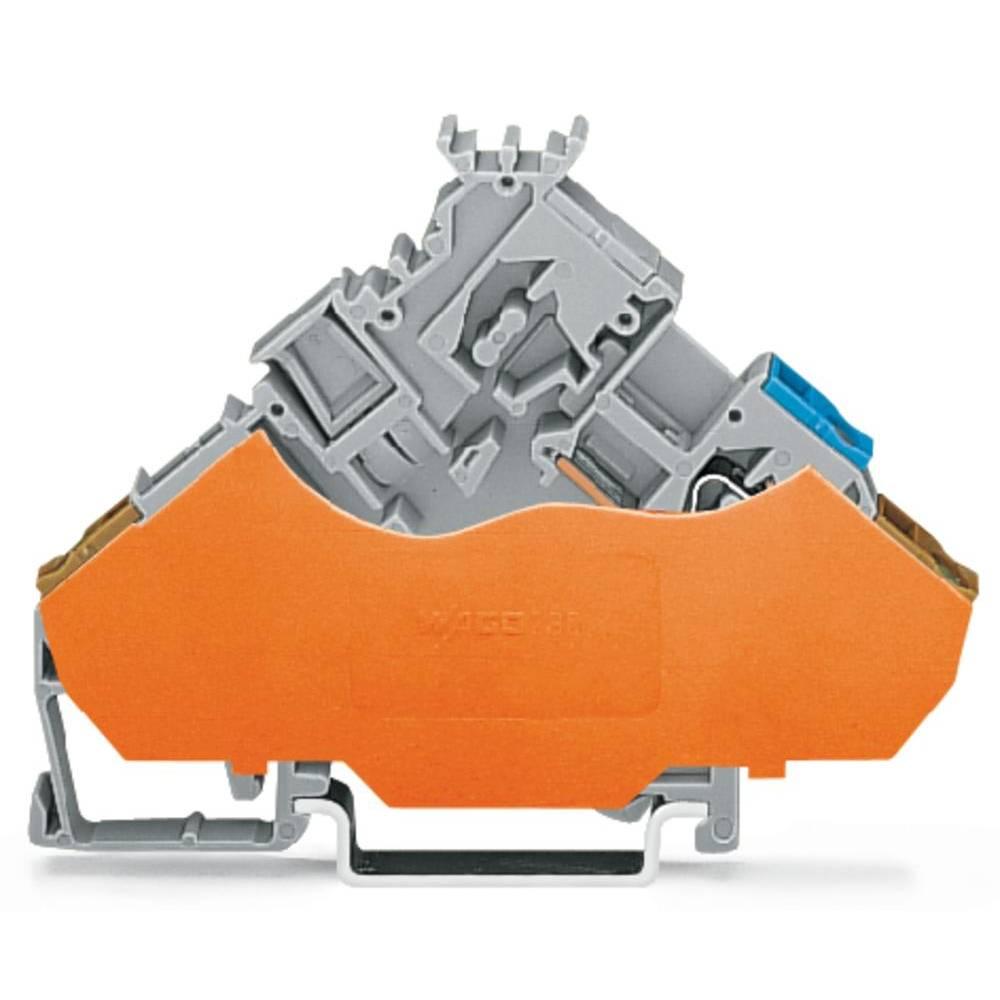 Aktorklemme 6 mm Trækfjeder Belægning: L Grå WAGO 280-565/280-321 50 stk