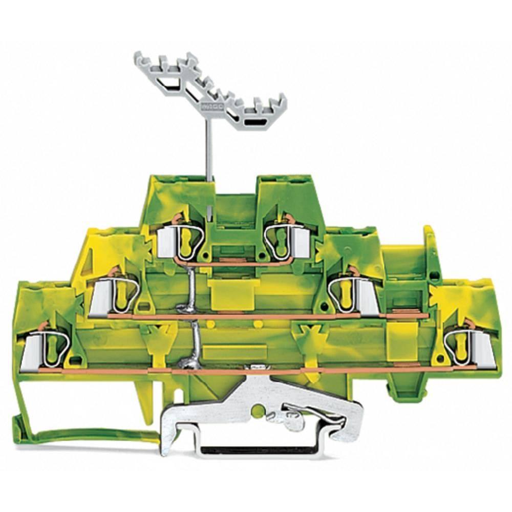 Trippel-gennemgangsklemme 5 mm Trækfjeder Belægning: Terre Grøn-gul WAGO 280-597 40 stk