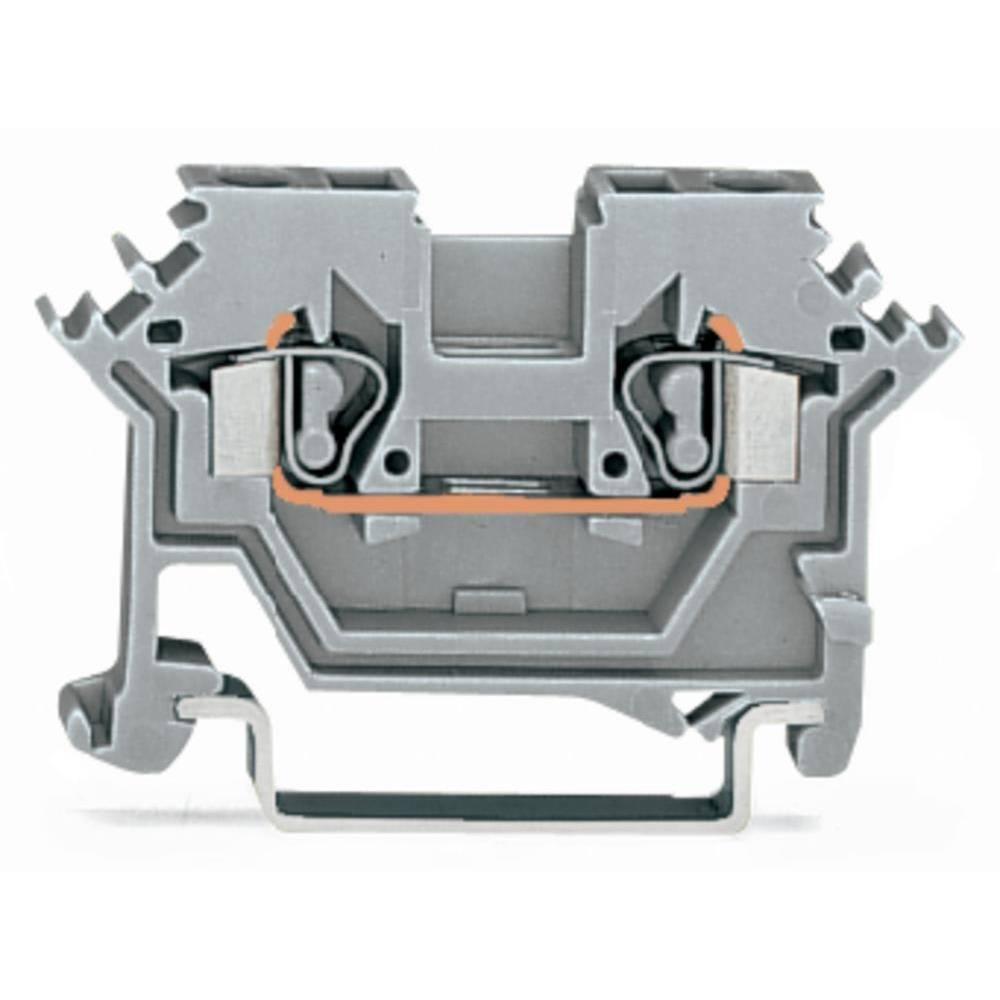 Gennemgangsklemme 5 mm Trækfjeder Belægning: N Blå WAGO 280-602 100 stk