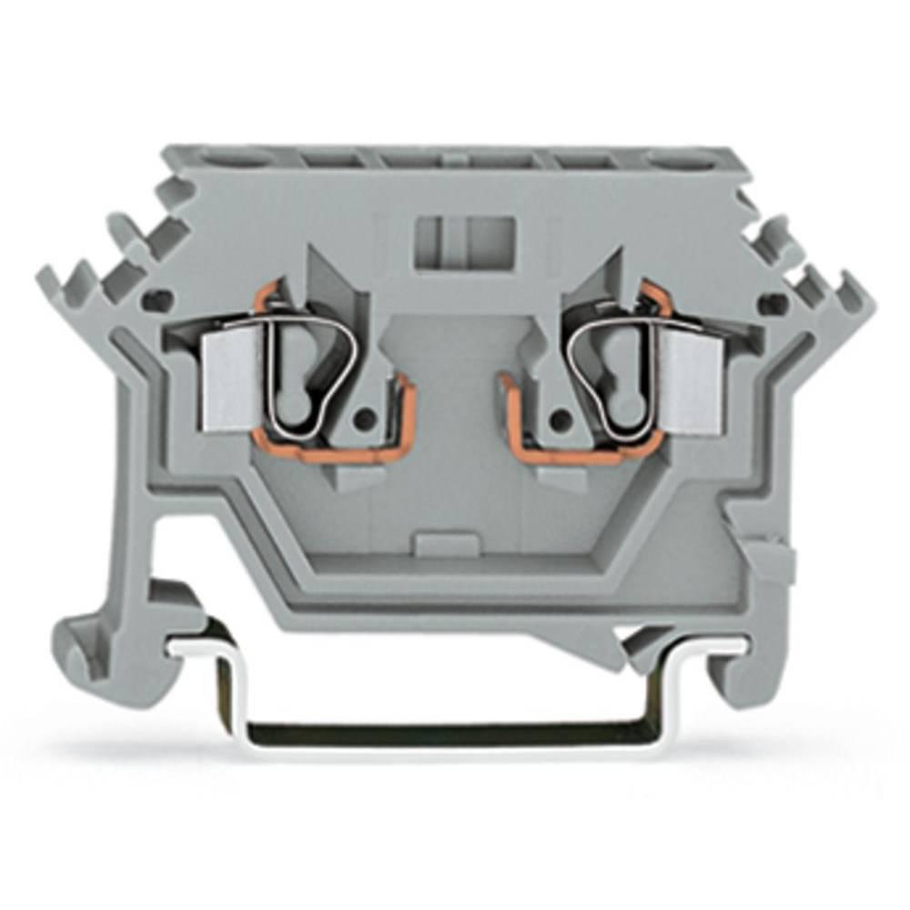 Basisklemme 5 mm Trækfjeder Belægning: L Grå WAGO 280-616 100 stk