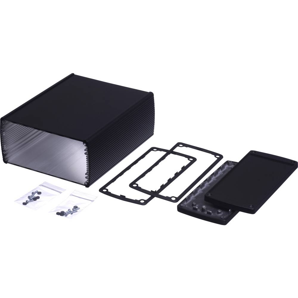 Profil-kabinet 200 x 210 x 74 Aluminium Sort Bopla Alubos ABP 2070-200 1 stk