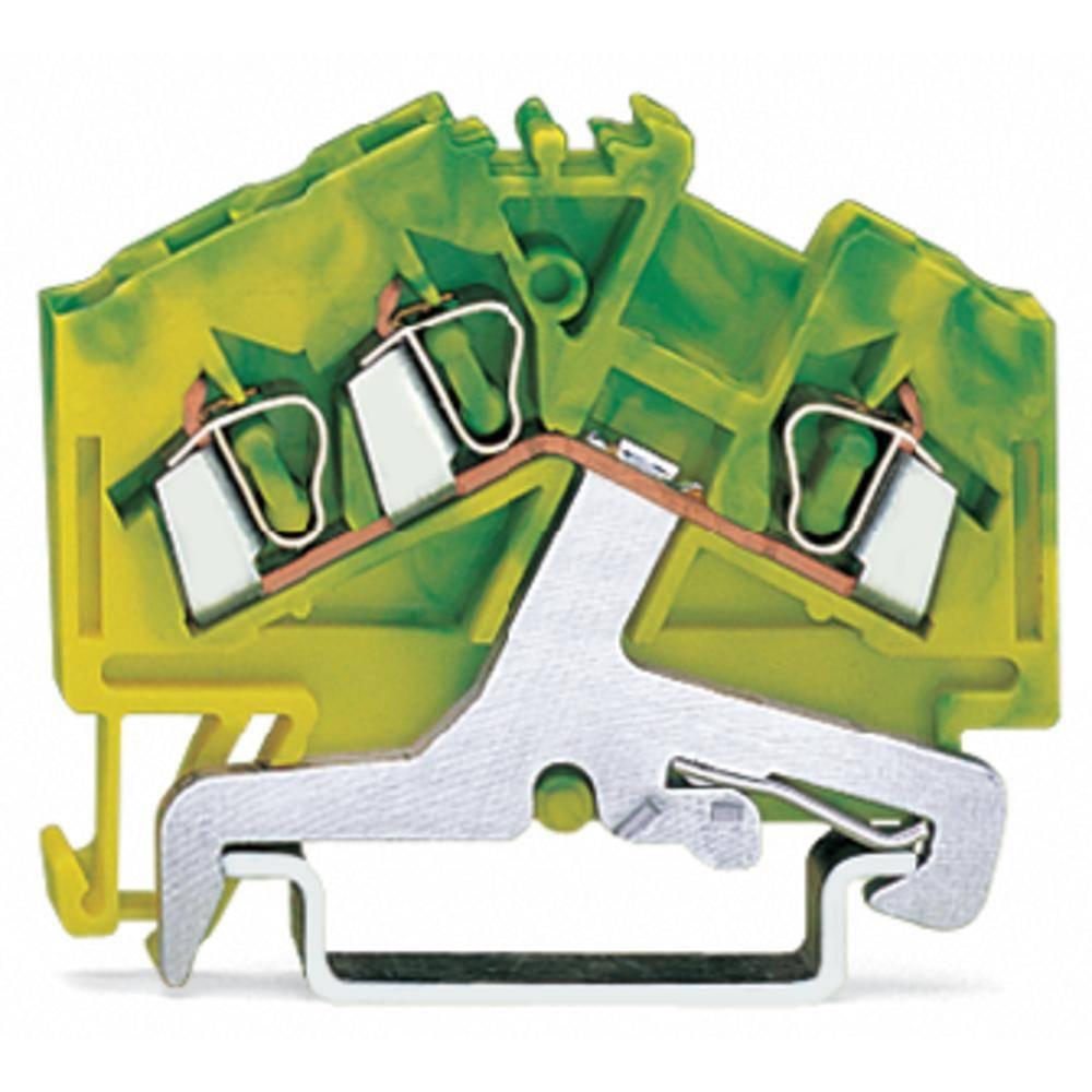 Jordklemme 5 mm Trækfjeder Belægning: Terre Grøn-gul WAGO 280-637/999-950 100 stk