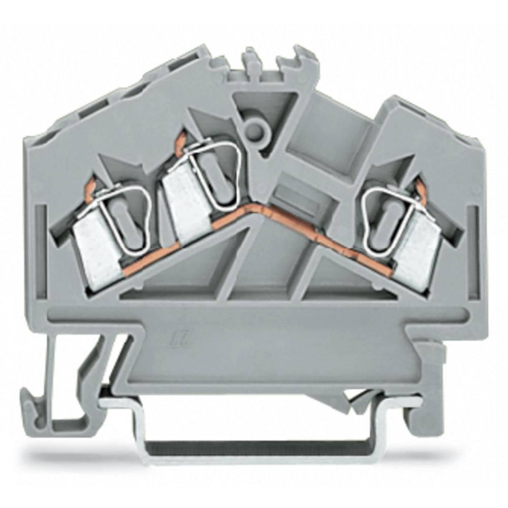 Gennemgangsklemme 5 mm Trækfjeder Belægning: L Grå WAGO 280-641 100 stk