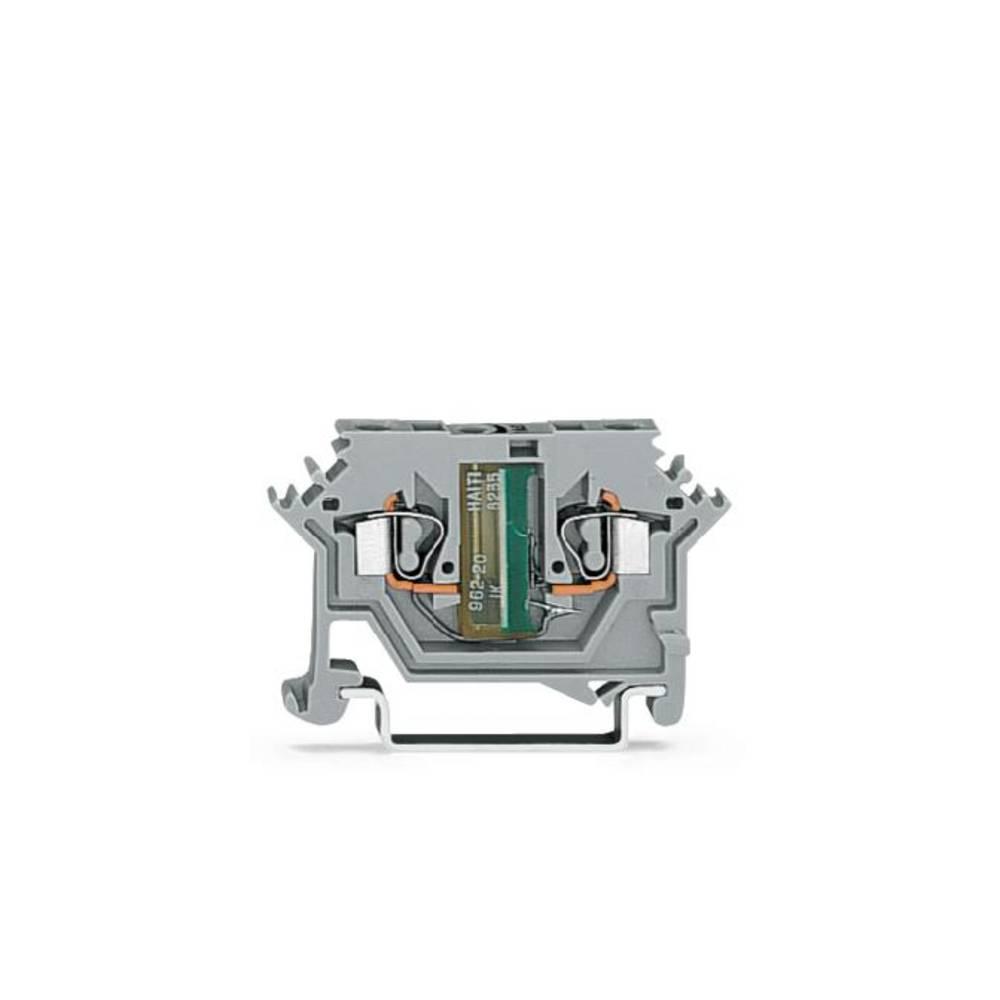Enkelt klemme 5 mm Trækfjeder Belægning: L Grå WAGO 280-645/281-412 100 stk