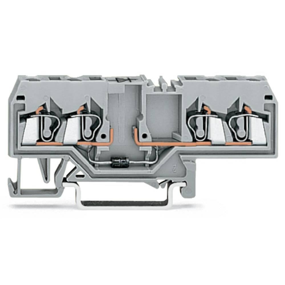 Diodeklemme 5 mm Trækfjeder Belægning: L Grå WAGO 280-655/281-410 100 stk