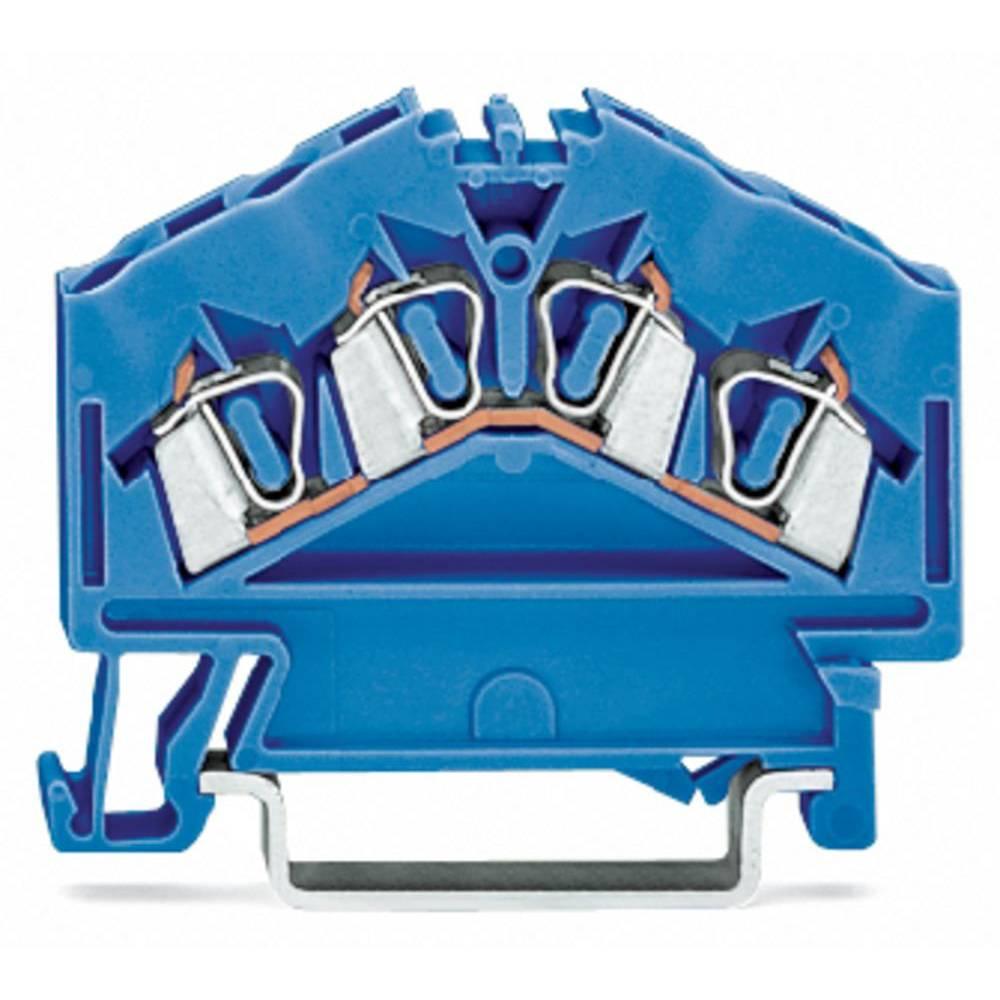 Gennemgangsklemme 5 mm Trækfjeder Belægning: N Blå WAGO 280-656 100 stk