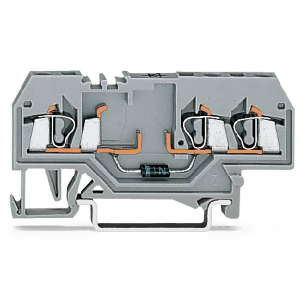 Diodeklemme 5 mm Trækfjeder Belægning: L Grå WAGO 280-673/281-410 100 stk