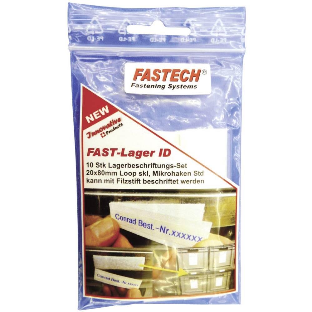 Sprijemalni trak za označevanje Fastech 610-010-Bag, (D x Š)80 mm x 20 mm, bel, 10 kosov
