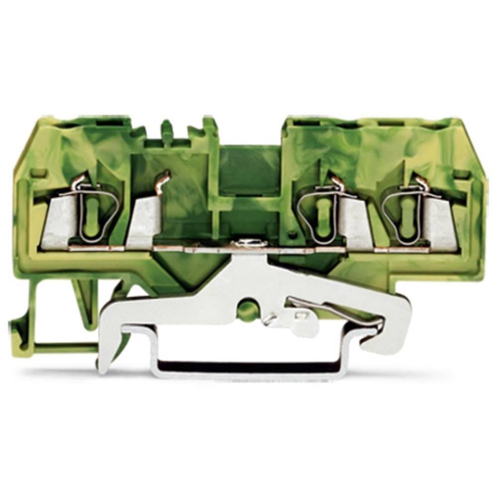 Jordklemme 5 mm Trækfjeder Belægning: Terre Grøn-gul WAGO 280-687/999-950 100 stk