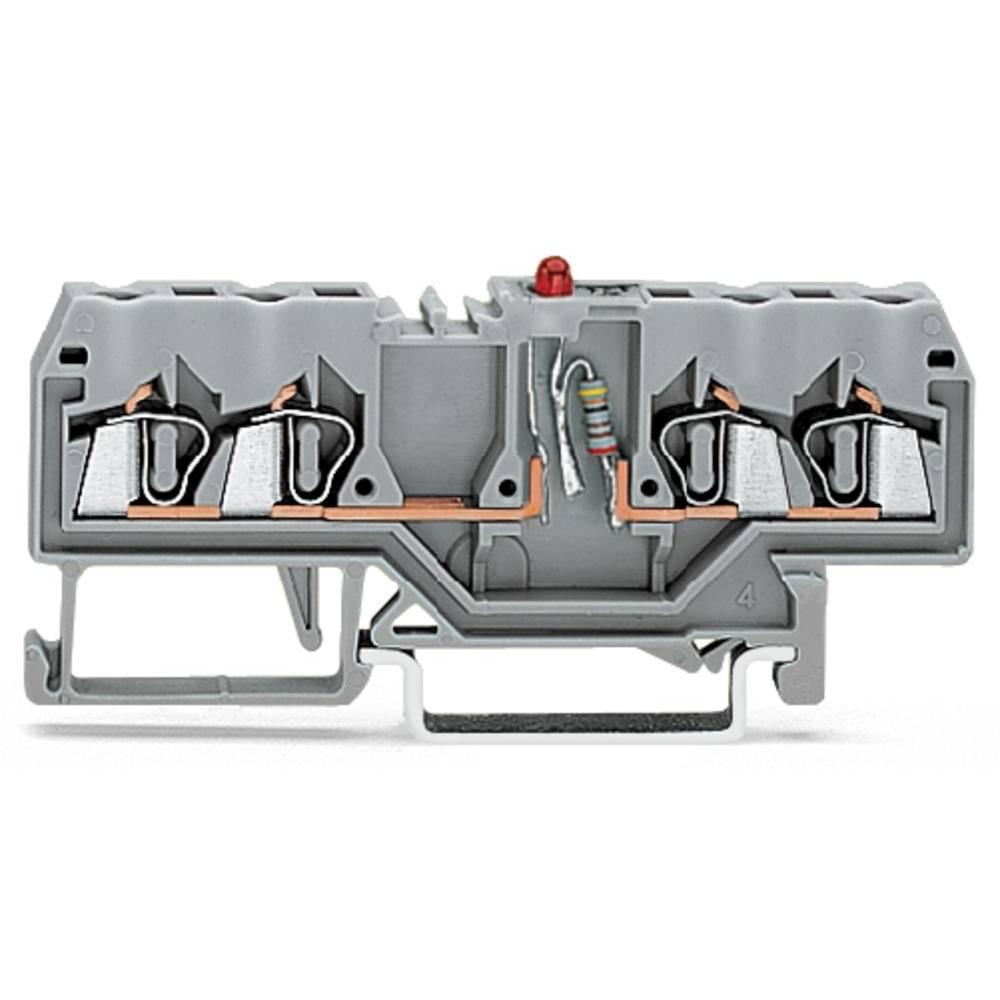 LED-klemme 5 mm Trækfjeder Belægning: L Grå WAGO 280-809/281-434 100 stk