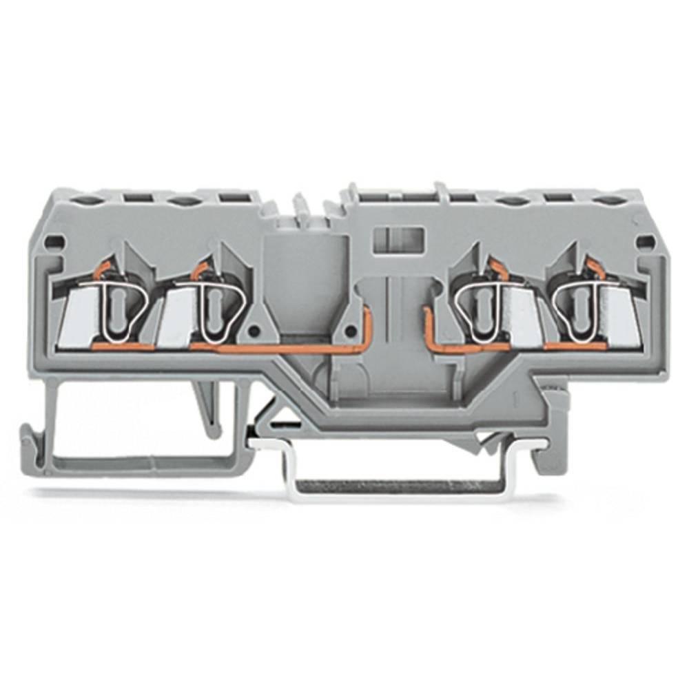 Basisklemme 5 mm Trækfjeder Belægning: L Grå WAGO 280-816 100 stk
