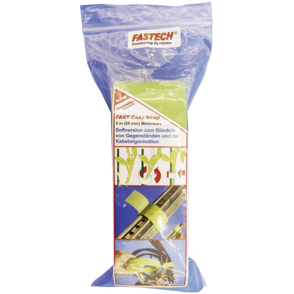 Traka s čičkom za biljke i vrt 705-322-Bag Fastech prianjajući i mekani dio (D x Š) 5 m x 50 mm zelena 1 kolut