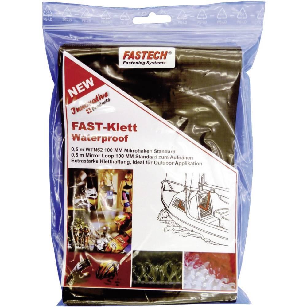 Traka s čičkom na šivanje mikro kukice 707-330-Bag Fastech (D x Š) 0.5 m x 100 mm crna 1 komad