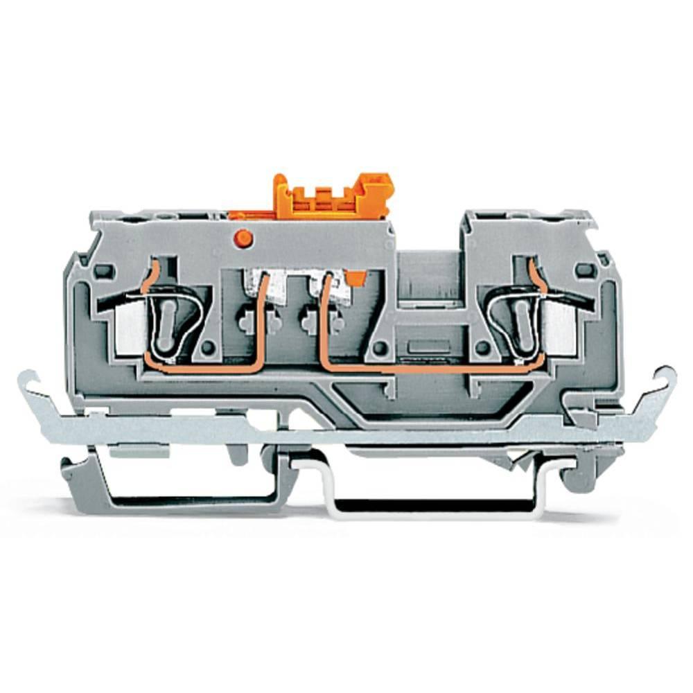 Skilleklemme 5 mm Trækfjeder Orange WAGO 280-880 50 stk