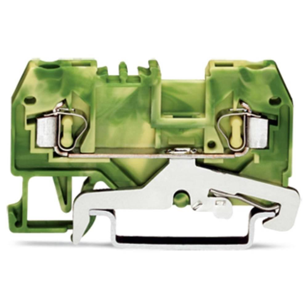 Jordklemme 5 mm Trækfjeder Belægning: Terre Grøn-gul WAGO 280-907 100 stk
