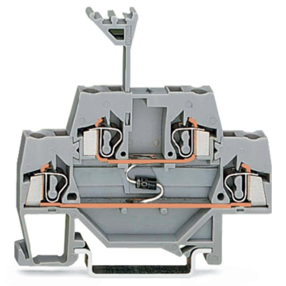 Dobbeltlags diodeklemme 5 mm Trækfjeder Belægning: L Grå WAGO 280-940/281-410 50 stk