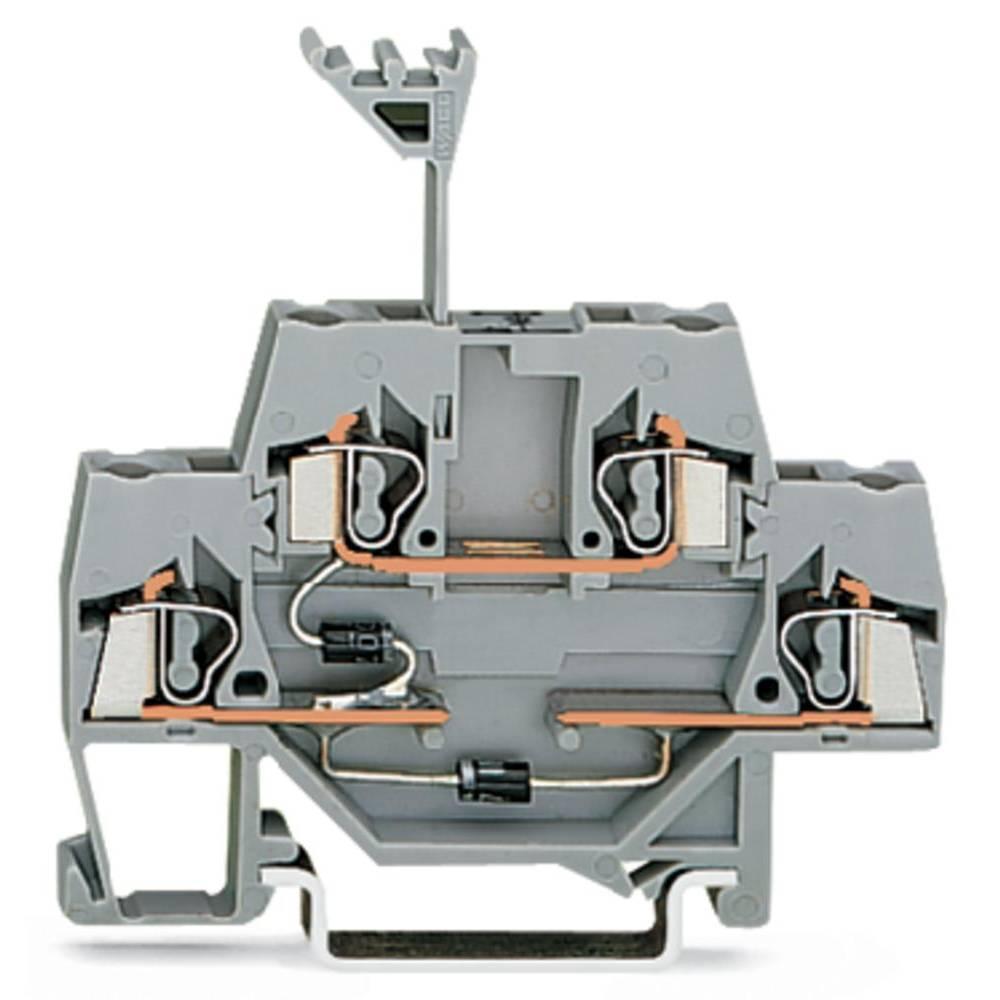 Dobbeltlags diodeklemme 5 mm Trækfjeder Belægning: L Grå WAGO 280-941/281-491 50 stk