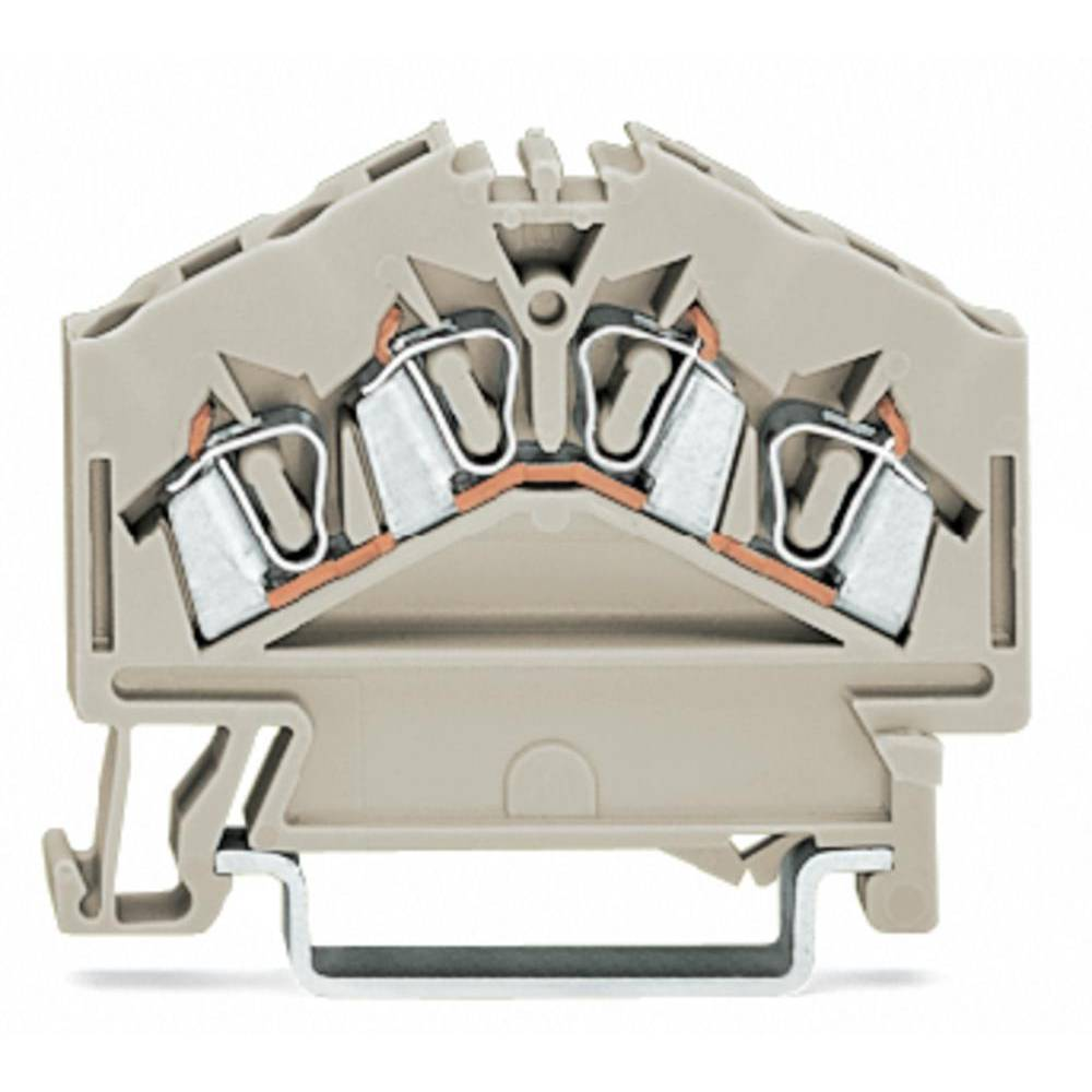 Gennemgangsklemme 5 mm Trækfjeder Belægning: L Grå WAGO 280-996 100 stk