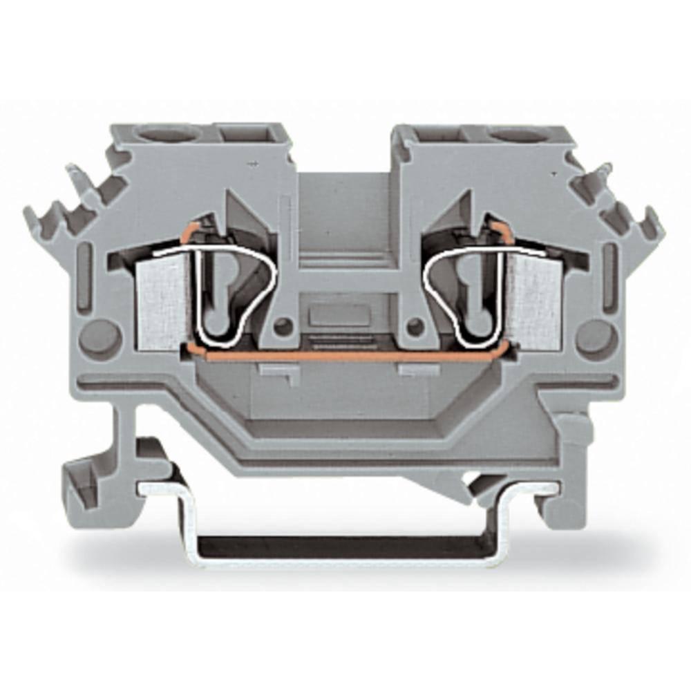 Gennemgangsklemme 6 mm Trækfjeder Belægning: L Grå WAGO 281-691 50 stk