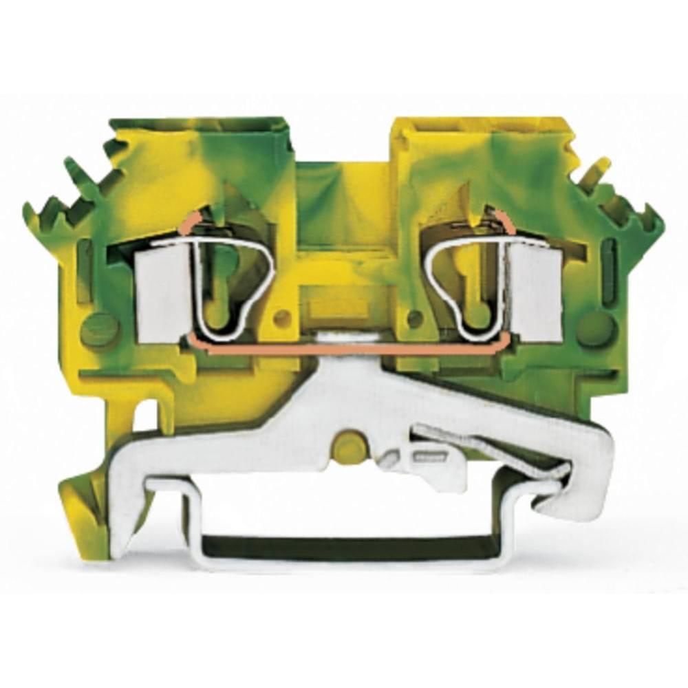 Jordklemme 6 mm Trækfjeder Belægning: Terre Grøn-gul WAGO 281-607 50 stk
