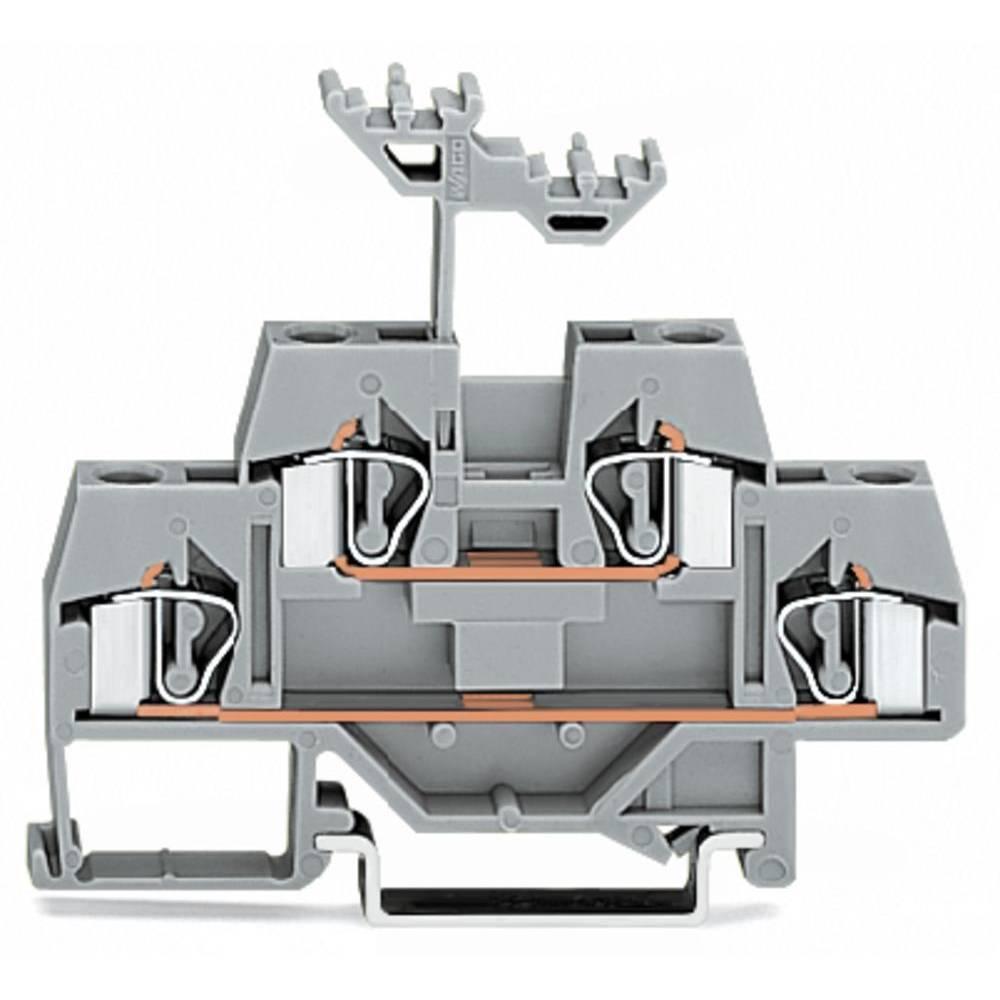 Dobbeltlags-gennemgangsklemme 6 mm Trækfjeder Belægning: L Grå WAGO 281-619 50 stk