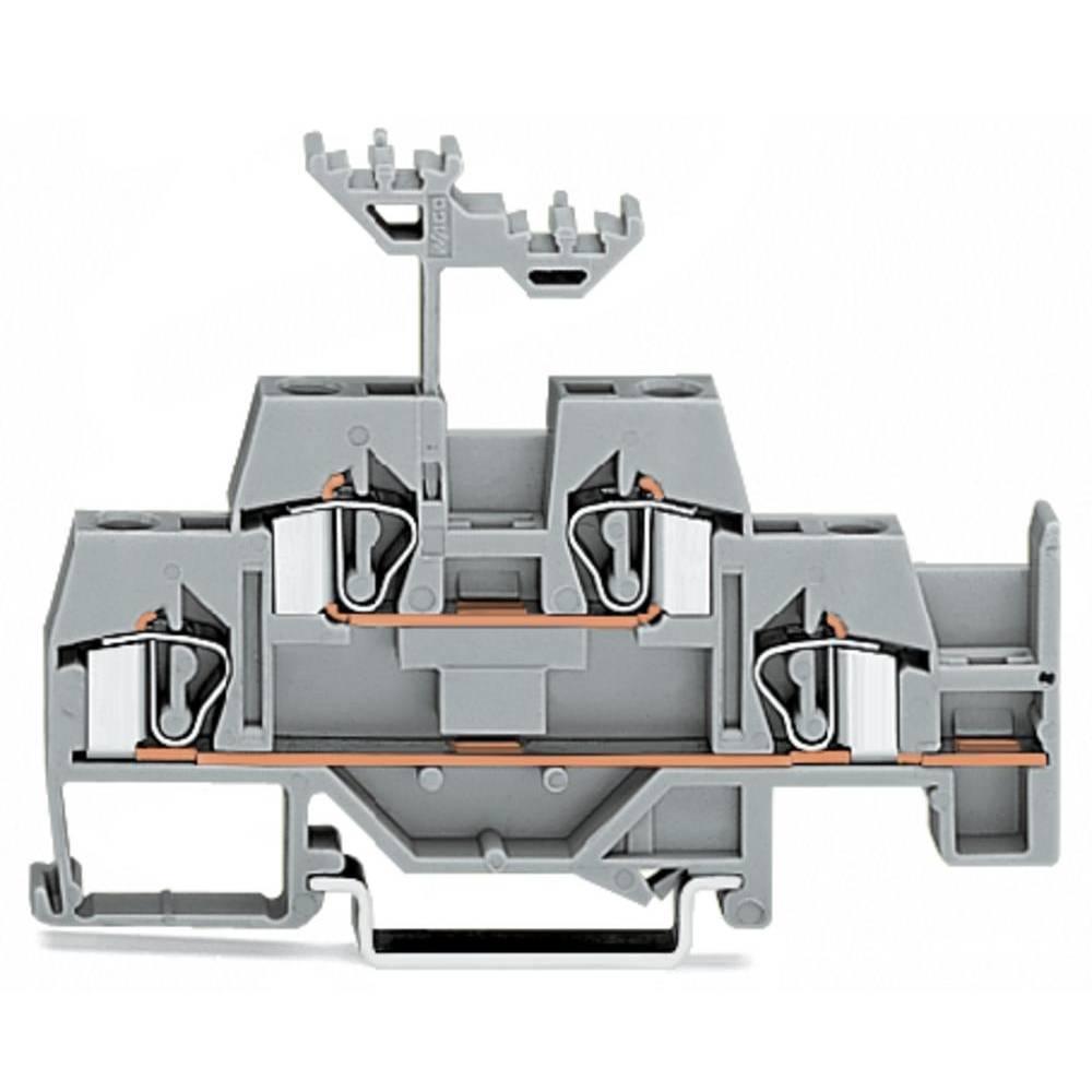 Dobbeltlags-gennemgangsklemme 6 mm Trækfjeder Belægning: L Grå WAGO 281-620 50 stk