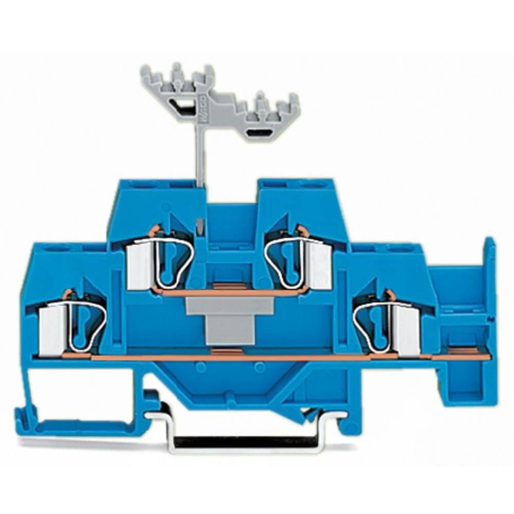 Dobbeltlags-gennemgangsklemme 6 mm Trækfjeder Belægning: N Blå WAGO 281-630 50 stk