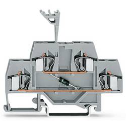 Dobbeltlags diodeklemme 6 mm Trækfjeder Belægning: L Grå WAGO 281-633/281-411 50 stk