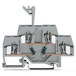 Dobbeltlags diodeklemme 6 mm Trækfjeder Belægning: L Grå WAGO 281-635/281-489 50 stk
