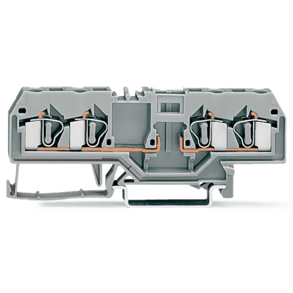 Basisklemme 6 mm Trækfjeder Belægning: L Grå WAGO 281-656 50 stk