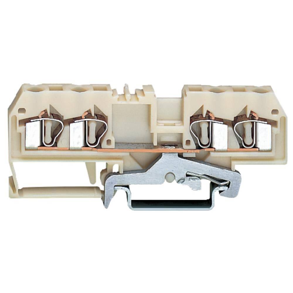 Skærmklemme 6 mm Trækfjeder Hvid WAGO 281-658 50 stk