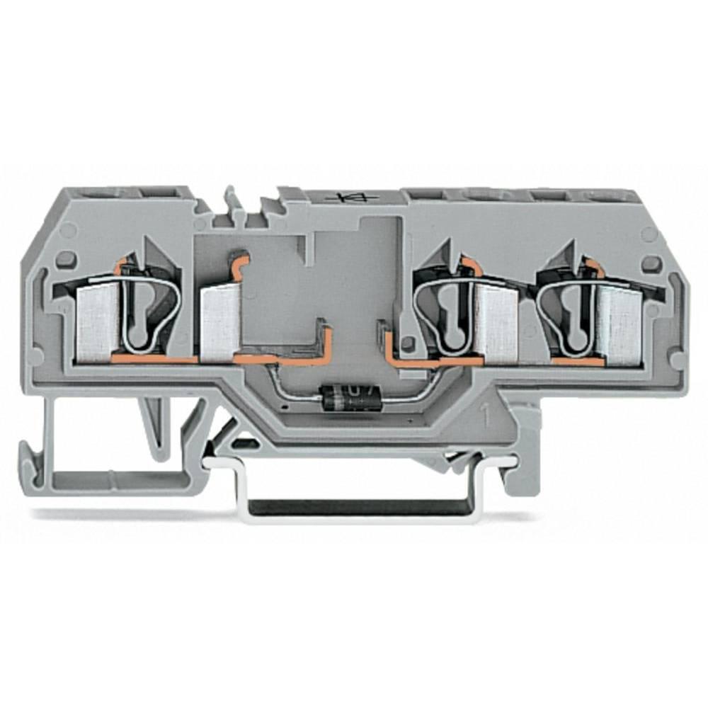 Diodeklemme 6 mm Trækfjeder Belægning: L Grå WAGO 281-673/281-410 50 stk