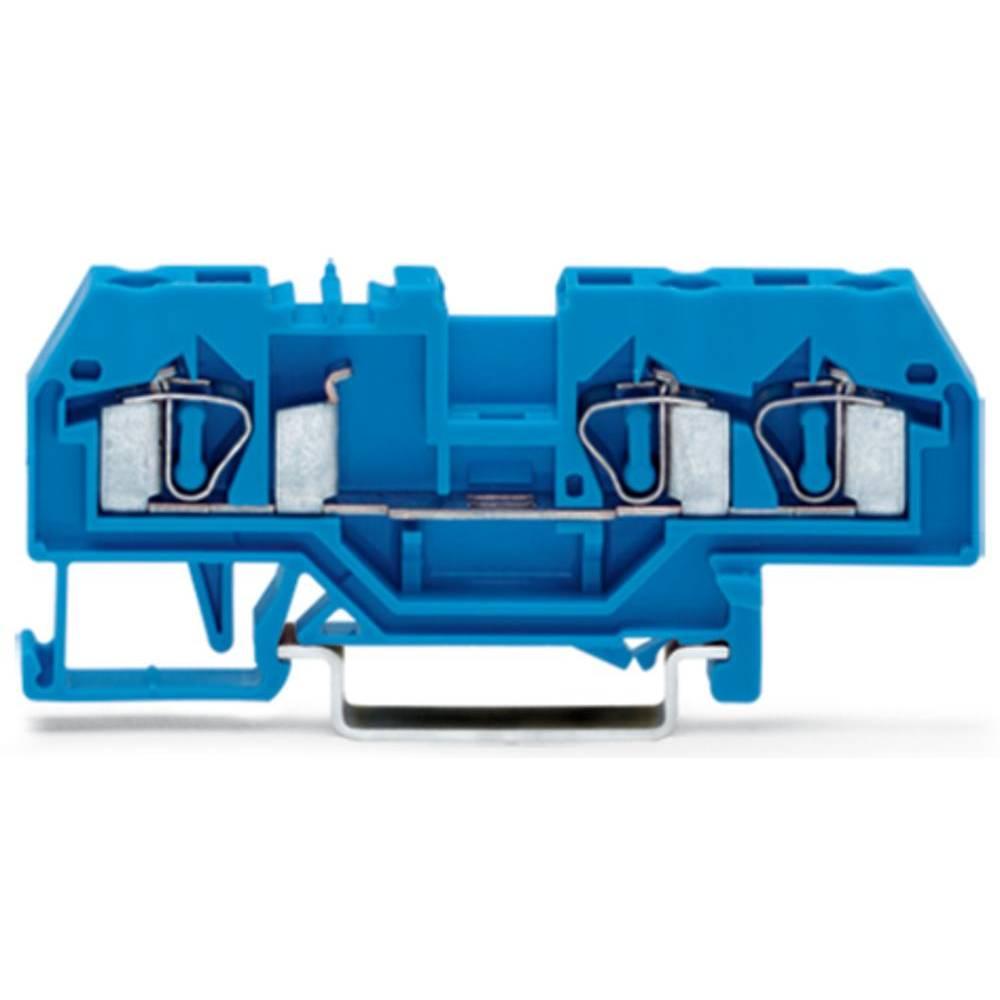 Gennemgangsklemme 6 mm Trækfjeder Belægning: N Blå WAGO 281-684 50 stk