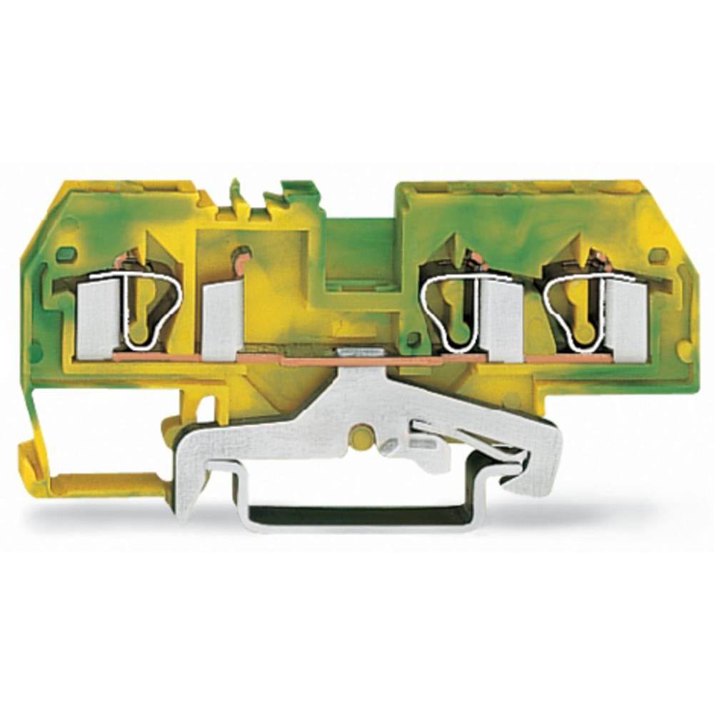 Jordklemme 6 mm Trækfjeder Belægning: Terre Grøn-gul WAGO 281-687/999-950 50 stk