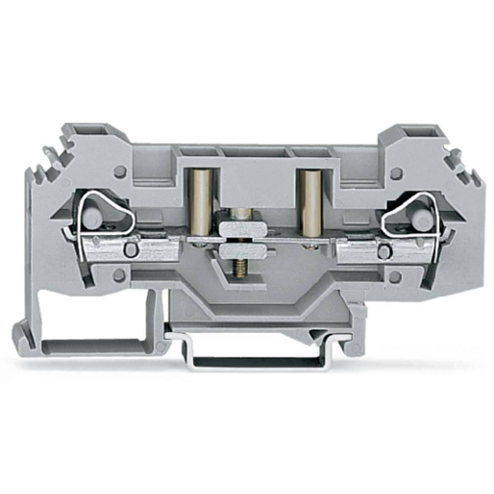 Skilleklemme 8 mm Trækfjeder Belægning: L Grå WAGO 282-131 25 stk