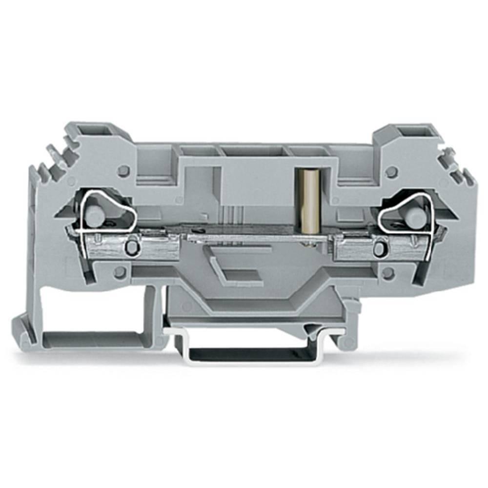 Gennemgangsklemme 8 mm Trækfjeder Belægning: L Grå WAGO 282-133 25 stk