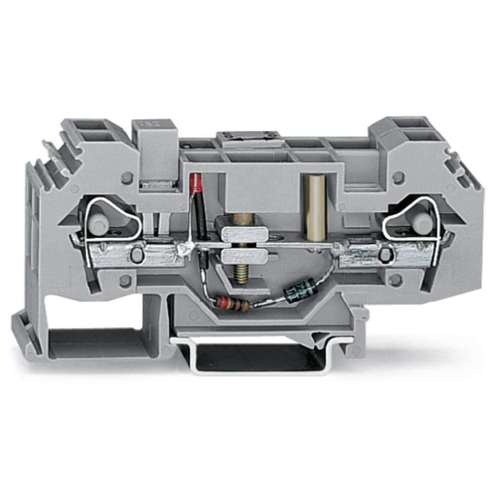 Skilleklemme 16 mm Trækfjeder Belægning: L Grå WAGO 282-140 12 stk