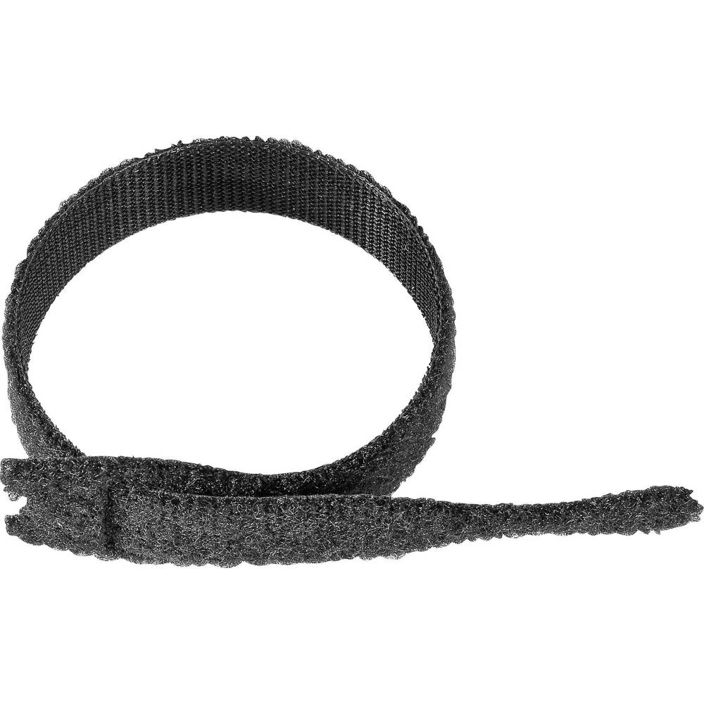 Kabelska vezica s čičkom ONE-WRAP Strap® Velcro prianjajući i mekani dio (D x Š) 200 mm x 13 mm crna 1 komad